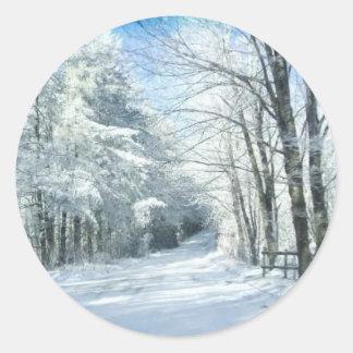 Snow Classic Round Sticker