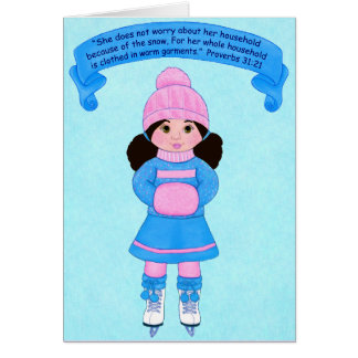 Snow-Clothed in Warm Garments~Scripture Card