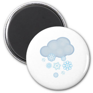 snow cloud 2 inch round magnet