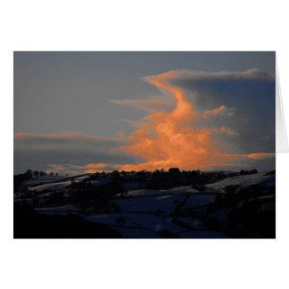 Snow Cloud over Newtown, Powys Card