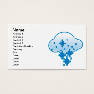 Snow Clouds 2 Business Card