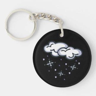 Snow Clouds Keychain