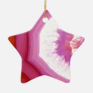 Snow Cone Agate Slice Ceramic Ornament