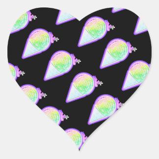 Snow Cone Lover - Heart Sticker