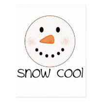 """Snow Cool"" Snowman Postcard"