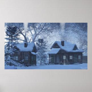 Snow Cottages Print
