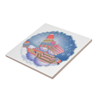 Snow Couple Ceramic Tile