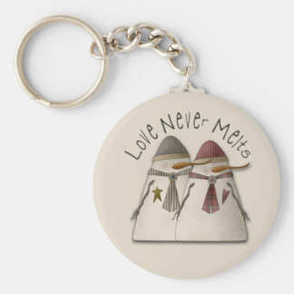Snow Couple Keychain