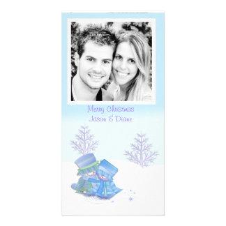 Snow Couple Photo Card
