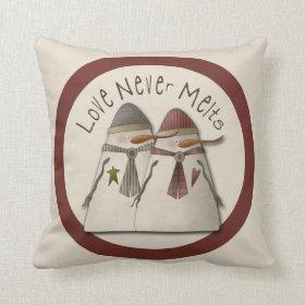 Snow Couple Pillows