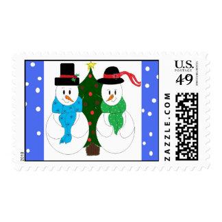 Snow Couple Postage