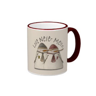 Snow Couple Ringer Mug