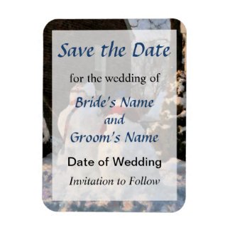Snow Couple Save the Date Magnet
