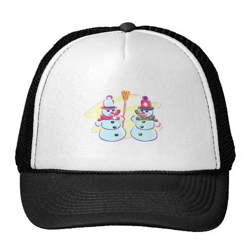Snow couple trucker hats