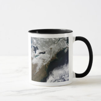 Snow cover stretching from Canada Mug