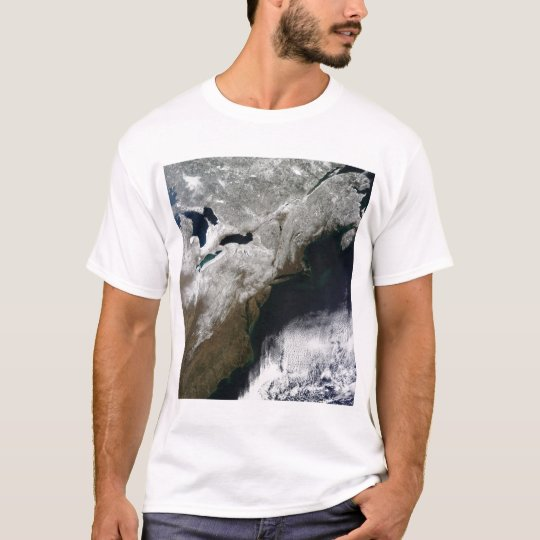 Snow cover stretching from Canada T-Shirt
