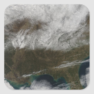 Snow cover stretching from northeastern Texas Square Sticker