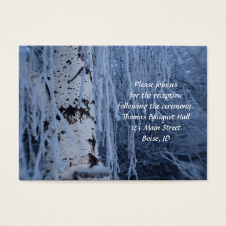 Snow Cover Weeping Birch Recption Cards