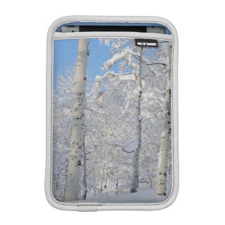 Snow-Covered Aspens, Beartrap-Desolation Ridge Sleeve For iPad Mini