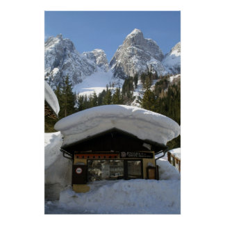 Snow Covered Austrian Alps Poster Print