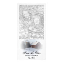 Snow Covered Barn Winter Wedding Save the Date Card