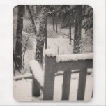 Snow Covered Benches Mouse Pad