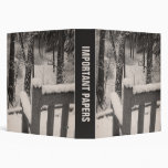 Snow Covered Benches Vinyl Binders