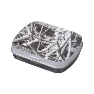 Snow-covered Branches Jelly Belly Candy Tins