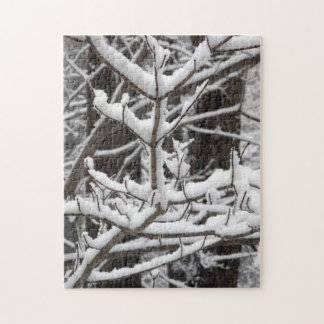 Snow-covered Branches Jigsaw Puzzle