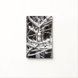 Snow-covered Branches Light Switch Plates