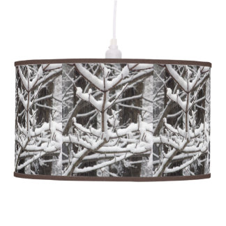 Snow-covered Branches Pendant Lamp