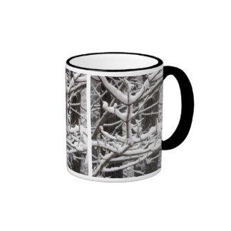 Snow-covered Branches Ringer Mug