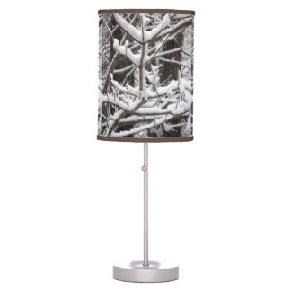 Snow-covered Branches Table Lamp
