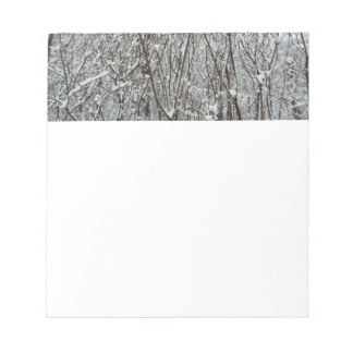 Snow Covered Branches Winter Abstract Photography Notepad