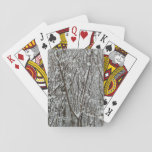 Snow Covered Branches Winter Abstract Photography Playing Cards