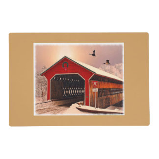 Snow Covered Bridge Placemat