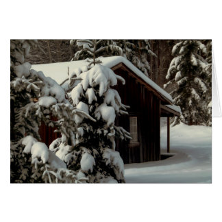 Snow Covered Cabin Card