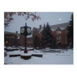 Snow covered campus postcard