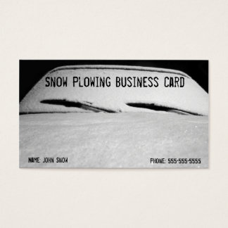 Snow Covered Car Snow Removal Business Card