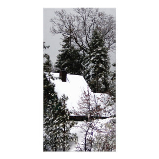 Snow Covered Card - Blank Inside Customized Photo Card