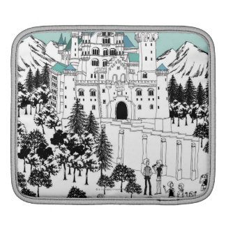 Snow Covered Castle Sleeves For iPads