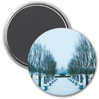 Snow-Covered Cemetery Magnet
