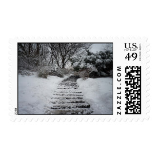 Snow Covered Central Park NYC Landscape Stamps