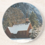 Snow Covered Chapel Coasters