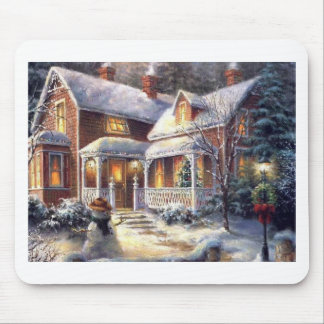 Snow Covered Christmas Mouse Pad