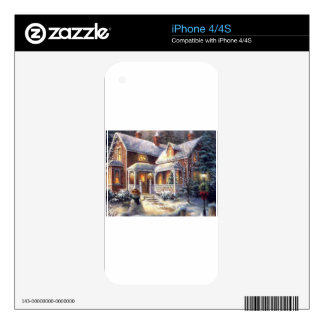 Snow Covered Christmas Skins For iPhone 4S