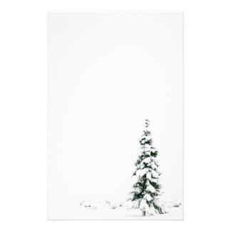 SNOW COVERED CHRISTMAS TREE STATIONERY