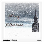 Snow Covered Church for the Christmas Holiday Room Stickers