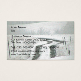 Snow Covered Country Lane Business Card