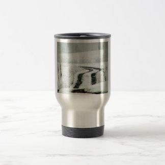 Snow Covered Country Lane Coffee Mug